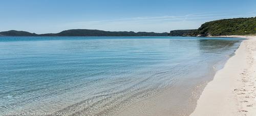 L'interminable plage de Balistra.